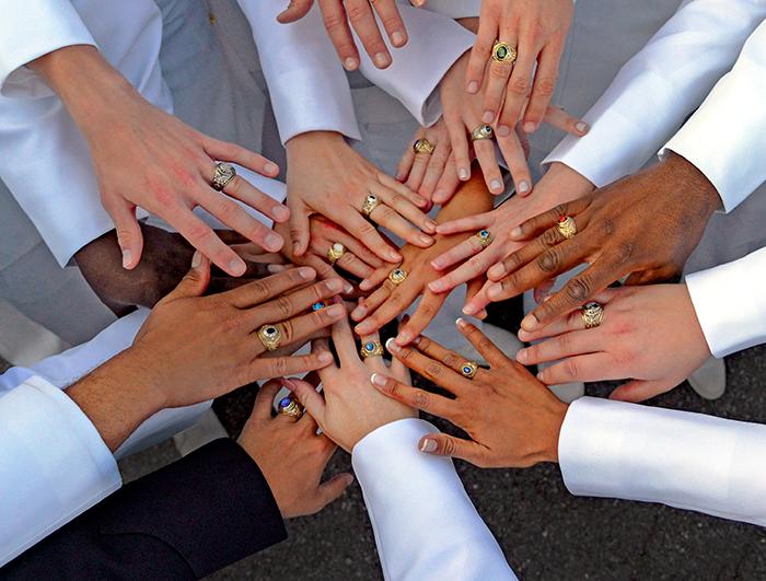 Rings at graduation